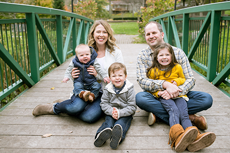 Pediatric dentist Dr. Chris Walsh and his family